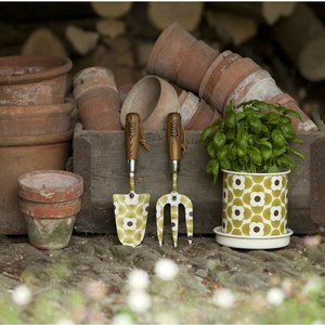 Set of 3 ORLA KIELY Gardening Fork Trowel tools
